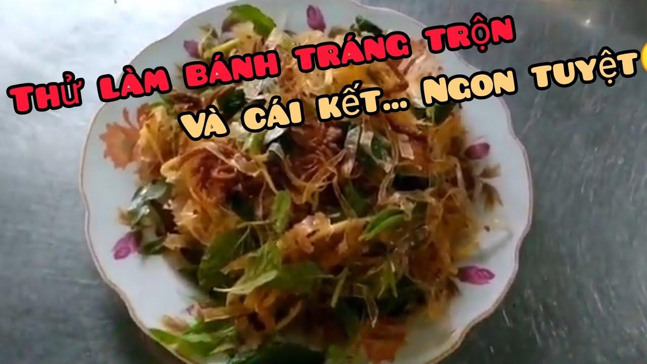 THỬ LÀM BÁNH TRÁNG TRỘN-Try making rice paper mix (Ngân Nga Channel)