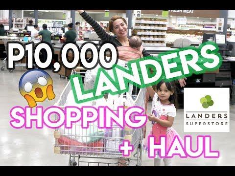 10,000 PHP GROCERY SHOPPING SA LANDERS AT HAUL + BAKUNA NI CLOUD! | Nina Rayos 💋