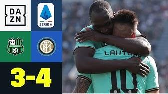 Lukaku und Lautaro Martinez schießen Inter zum Sieg: Sassuolo - Inter Mailand 3:4   Serie A   DAZN