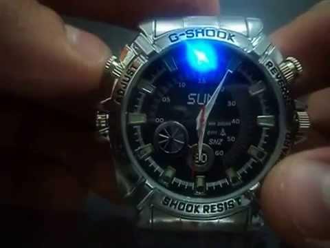 05f033723ba Manual do Relógio de Pulso Espião Memroia 16GB Visão Noturna - YouTube