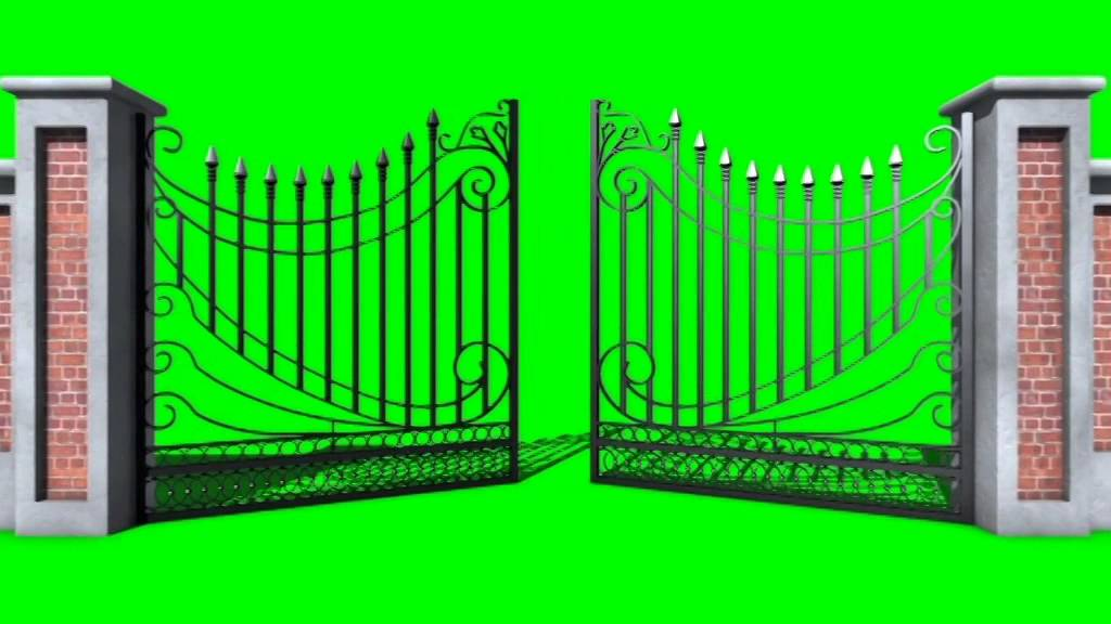green screen cancello gate open footage pixelboom youtube