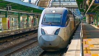 Railway. South Korea trains at speed / Поезда Южной Кореи на скорости