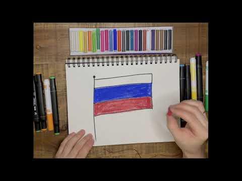Урок рисования для детей. Рисуем Флаг России!