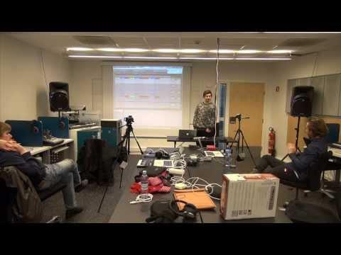 Presentasjon av Thomas i Ableton Live på NMH