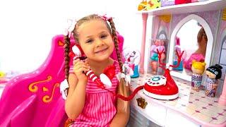 Diana no quiere ir a cumpleaños - quiere jugar con Papá
