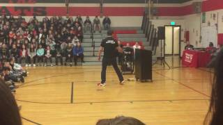 Marc Mero gives an inspirational speech at Middle school and brings school to tears