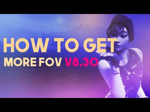 How to increase FOV in fortnite after the update 8.30   NEW STRECHED V8.30   subscribe for sick vids
