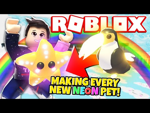 Making Every New Neon Pet In Adopt Me New Adopt Me Spring
