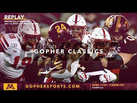 Watch Live: Gopher Football Routs Nebraska 34-7 (Gopher Classics)