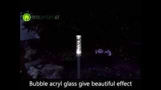 Bubblelight - ogrodowa lampa solarna LED ze stali nierdzewnej w