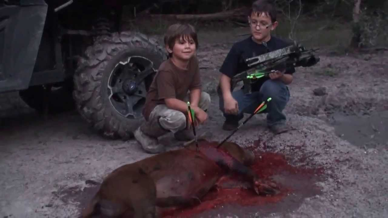 Haydens First Crossbow Kill With A Heart Shot