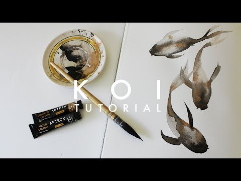 Learn To Watercolor Koi Fish! | Simple Tutorial