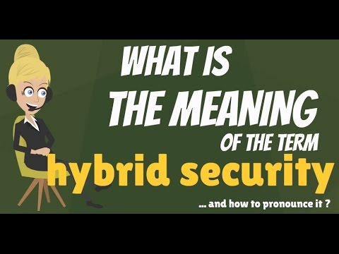 What is HYBRID SECURITY? What does HYBRID SECURITY mean? HYBRID SECURITY meaning & explanation