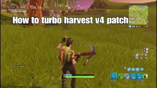 HOW TO TURBO HARVEST LIKE TFUE ON CONSOLE!!!- Fortnite Battle royal