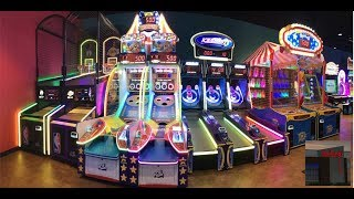 Playing Arcade Games at the Newburgh Family Entertainment Center
