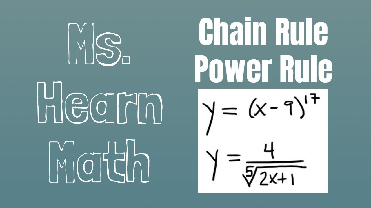 Two Examples Of General Power Rule Chain Rule For Power Functions