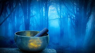 Rain in Woods Tibetan Bowls Relax Study or Sleep