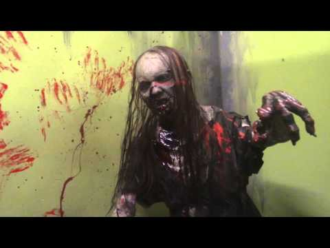 Zombie High School Walkthrough Lights On Kings Dominion 2015 Halloween Haunt