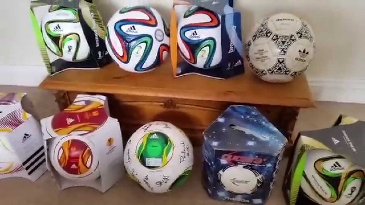 36aef5fba Official Match Ball football soccer collection. New Sep 2014 Match Used  Brazuca, Questra, Azteca - YouTube
