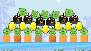Angry Birds Bomb 1 - PROTECT THE GOLDEN EGG BY THROWING OUT ALL PIGGIES!
