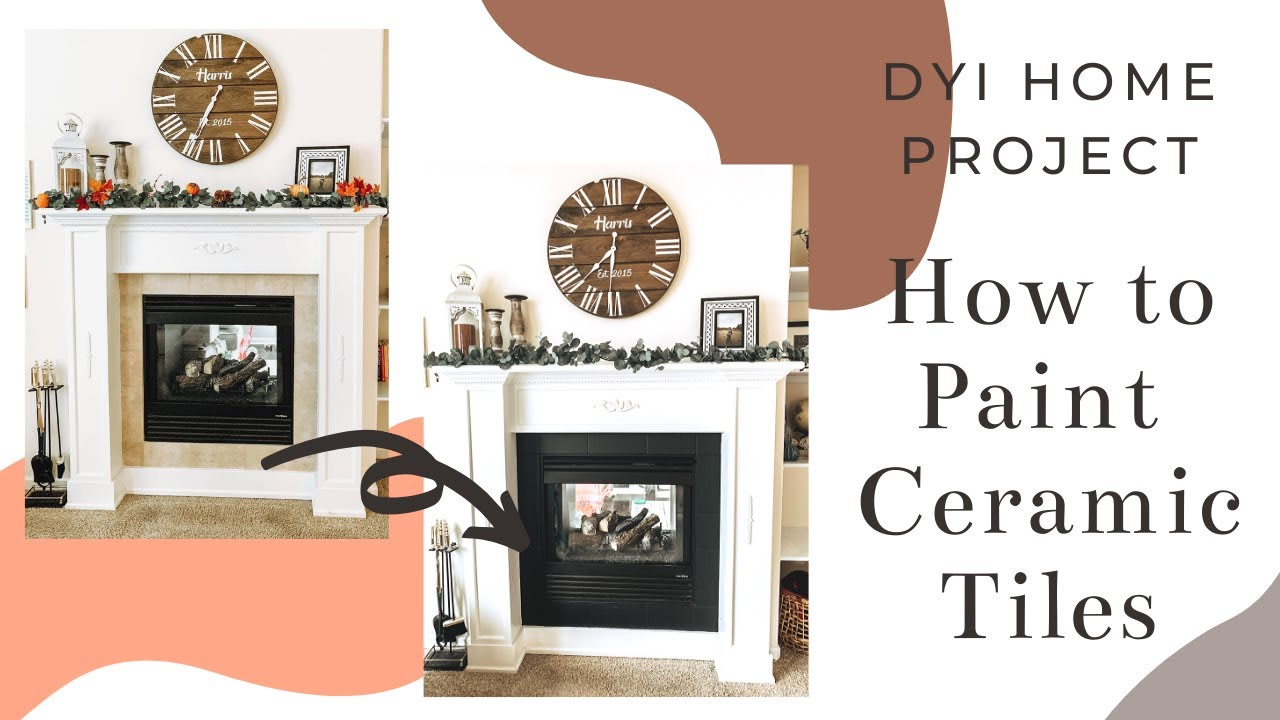 dyi paint ceramic tile fireplace upgrade home project