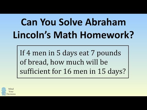 Can You Solve Abraham Lincoln's Math Homework?