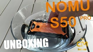 Nomu S50 Pro Unboxing: IP68 Rugged Phone 5.72'' 18:9 MT6763V 16MP/8M...