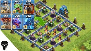Who Can Survive This Difficult Trap on Clash of Clans / troops vs trap #3