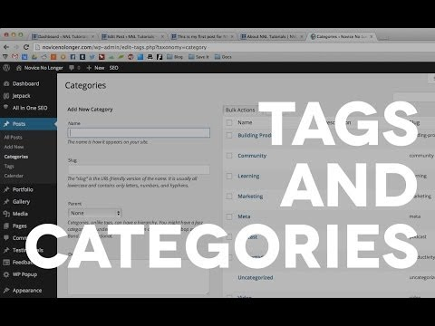 05 Categories VS Tags in Wordpress
