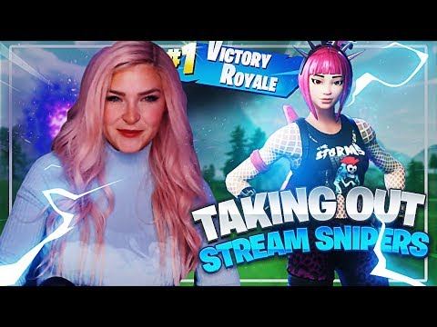 TAKING OUT STREAM SNIPERS! (Fortnite: Battle Royale Gameplay) | KittyPlays