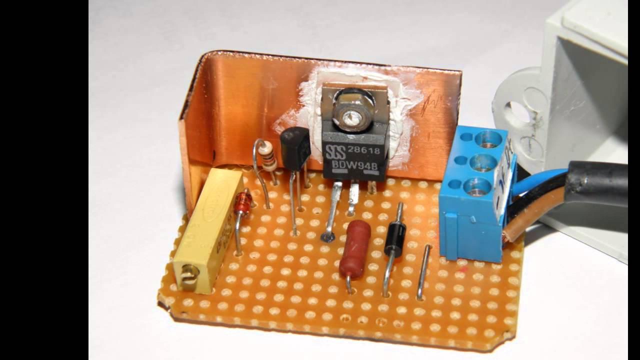 Selbstbau Schaltplan Regler für Lichtmaschine Oldtimer Auto ...