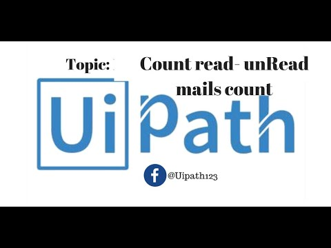 UiPath - Count Mails from folder || Imap activities