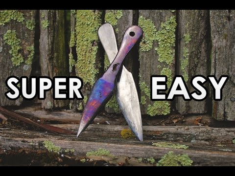 how to make easy homemade throwing knives youtube