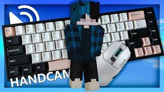 Custom Keyboard + Mouse ASMR Sounds (Handcam) | Hypixel Bedwars