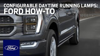 homepage tile video photo for Configurable Daytime Running Lamps   Ford How-To   Ford