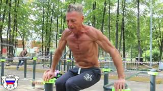 Самый сухой атлет Street Workout в 64 года!!Grandfather of Calisthenics 64 Year