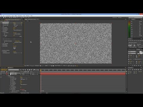 After Effects Tutorial: TV Noise Effect