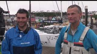 The Fastnet Challenge Trophy winners - Night n Day arrival dockside