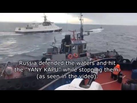 Russia Says it has Detained 3 Ukrainian Naval Ships Breaking Russian Borders in Kerch Strait Crimea