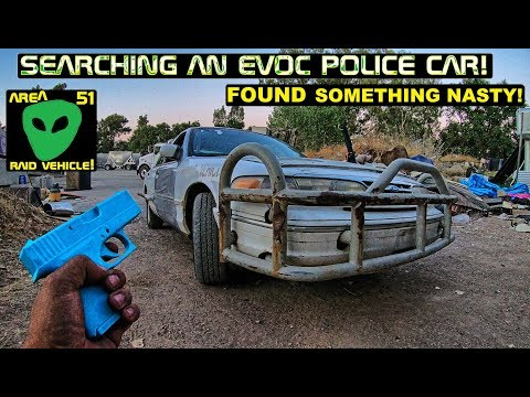 Searching An EVOC Cop Car! Ford Crown Victoria Police Interceptor!