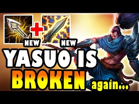 YASUO WITH NEW CRIT ITEMS MAKES HIM BROKEN AGAIN!! - League of Legends thumbnail