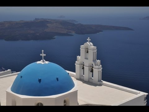 Santorini in the Greek Islands Greece HD