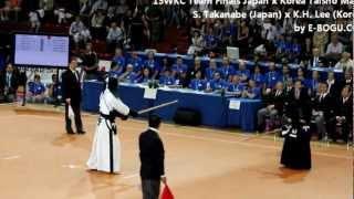 15WKC - Men's Team Finals [Taisho-sen] S. Takanabe (JPN) x KH Lee (KOR)