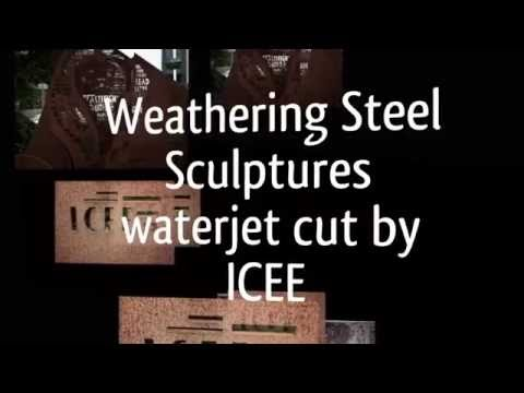 Weathering Steel (COR-TEN) waterjet cut