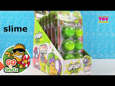 Pop Pops Snotz Series 1 Slime Surprise Figures Toy Review Unboxing  PSToyReviews