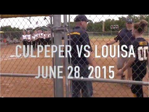 SOFTBALL VA DISTRICT 14 - CULPEPER VS LOUISA JUNE 28 2015