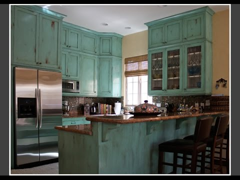 Antiqued Kitchen Cabinets Countertops Options Distressed Pictures Youtube