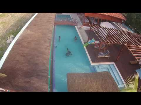 House on the beach in Luanda, Angola. Images taken by drone
