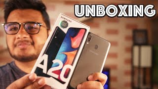 Samsung A20 Unboxing & Hand's On .