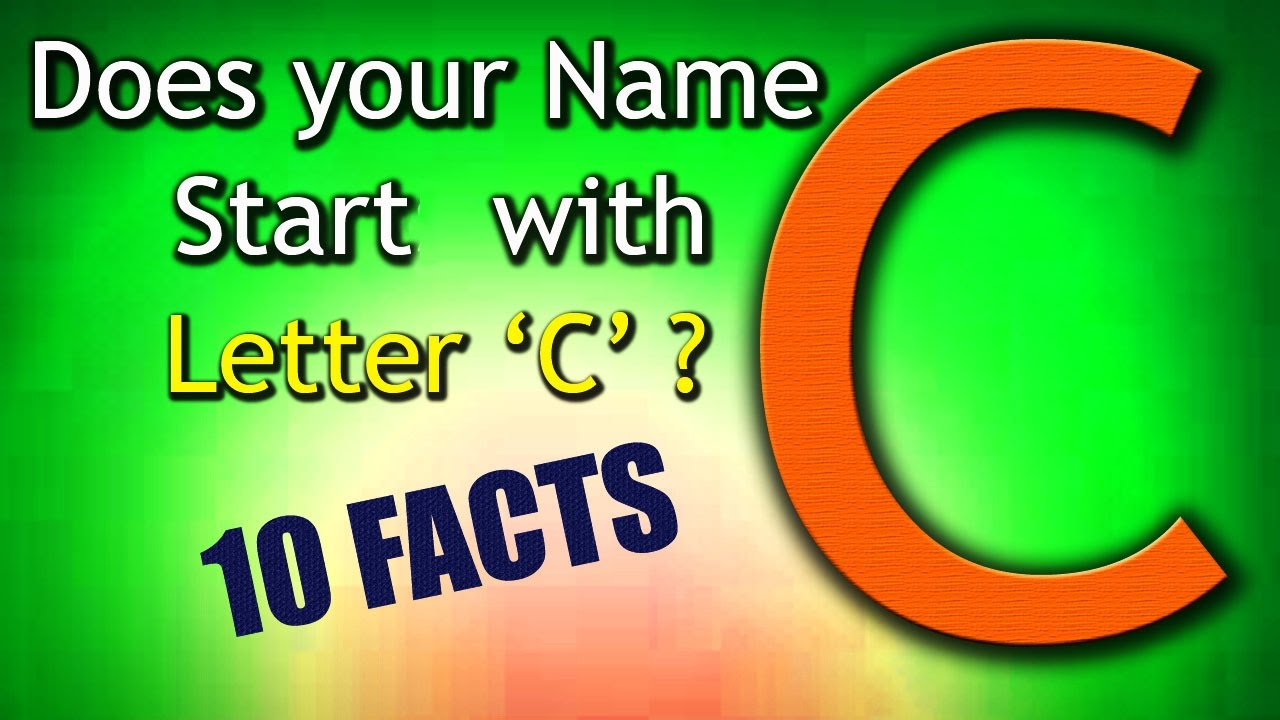10 Facts about the People whose name starts with Letter 'C
